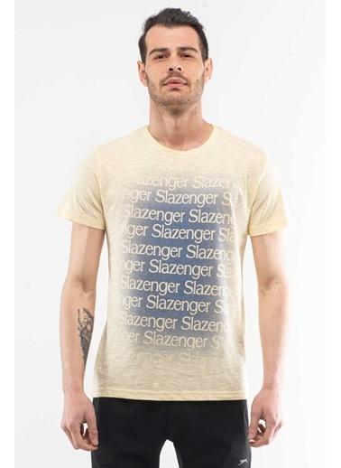 Slazenger Slazenger KARAT Erkek T-Shirt Sarı Sarı